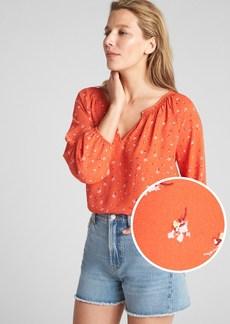 Gap Floral Balloon Sleeve Blouse
