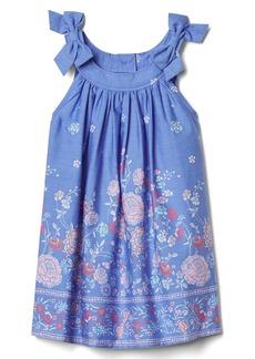Gap Floral border bow dress.