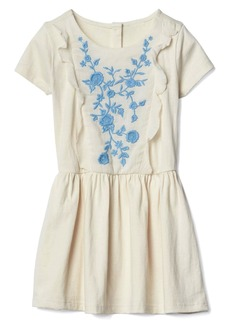 Gap Floral embroidery ruffle dress