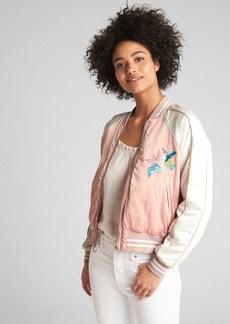 Gap Floral Embroidery Souvenir Jacket