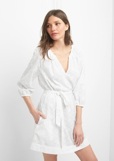 Gap Floral embroidery tie-belt cover up