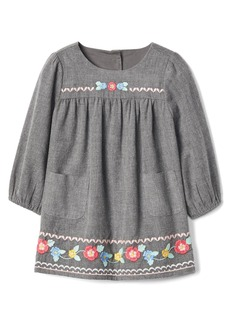 Gap Floral embroidery twill dress
