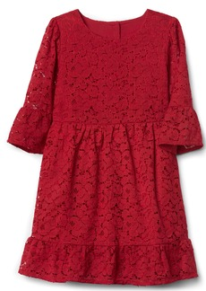Gap Floral lace bell-sleeve dress