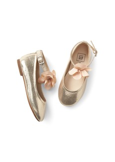 Gap Floral Metallic Ballet Flats