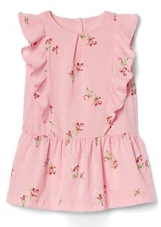 Gap Floral ruffle-front dress