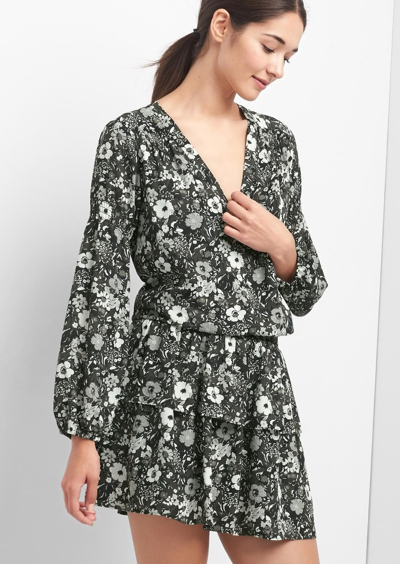 Gap Floral Smock Waist Dress Now 24 97