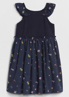 Gap Flutter Mix-Fabric Dress