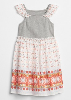 Gap Flutter Mix-Fabric Dress