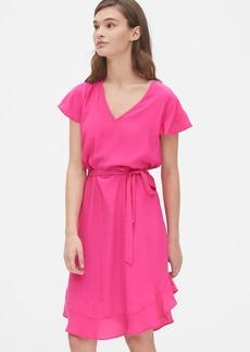 Gap Flutter Sleeve V-Neck Dress