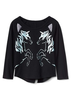 Gap Foil animal hi-lo tee