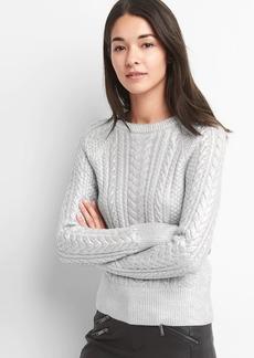 Gap Foil cable knit crewneck sweater