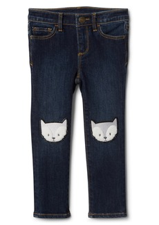 Gap Fox Patch Skinny Jeans with High Stretch
