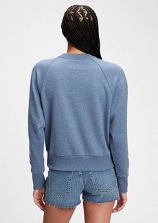 Gap Vintage Soft Cropped Henley Raglan Sweatshirt