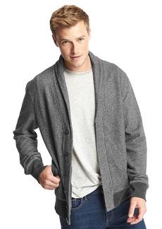 Gap French terry shawl collar cardigan