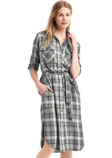 Gap + Pendleton plaid midi shirtdress