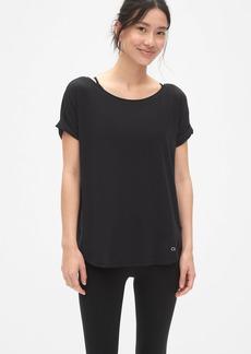 GapFit Breathe Roll Sleeve T-Shirt