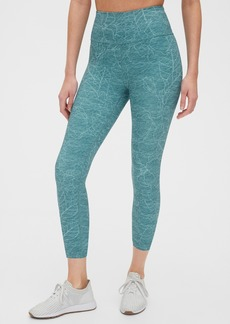 GapFit High Rise Print Capris in Eclipse