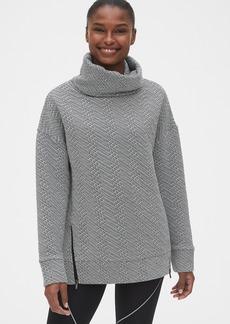GapFit Jacquard Funnel-Neck Tunic Sweatshirt