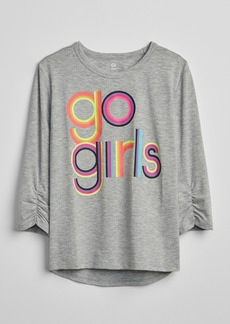 GapFit Kids Cinched-Sleeve Graphic T-Shirt