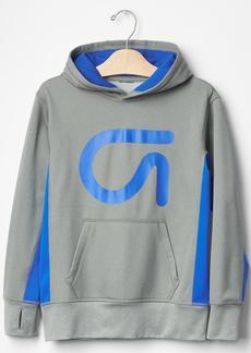 GapFit kids contrast logo hoodie