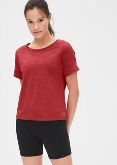 GapFit Slub Roll Sleeve T-Shirt