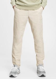 GapFlex Slim Taper Linen Pull-On Pants With E-Waist