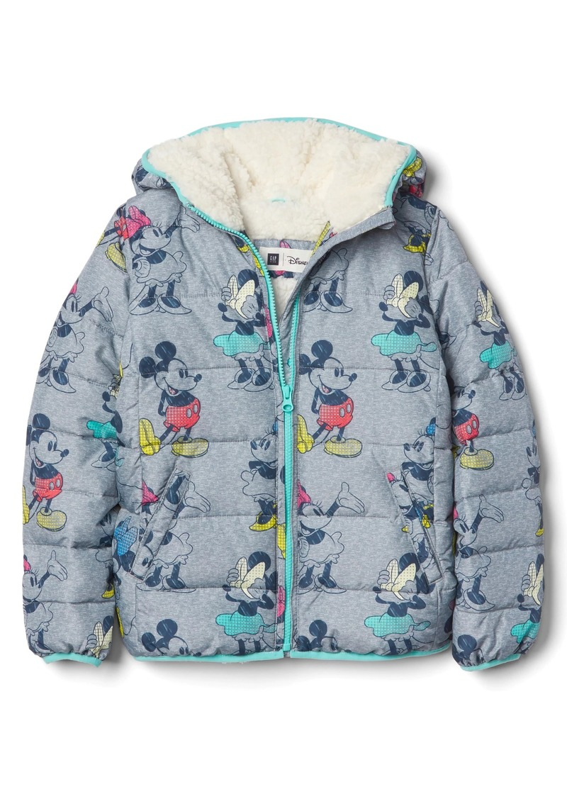 9bc7fb56f57 Gap GapKids   124 Disney Mickey Mouse and Minnie Mouse cozy puffer ...