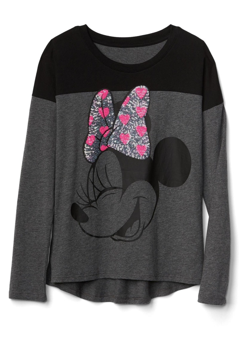 f325d082c67 GapKids   124 Disney Mickey Mouse and Minnie Mouse embellished colorblock  tee