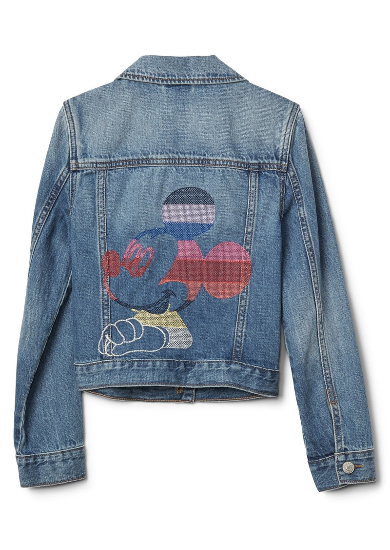 d90ccd0278 Kids | Disney Mickey Mouse crazy stripe denim jacket