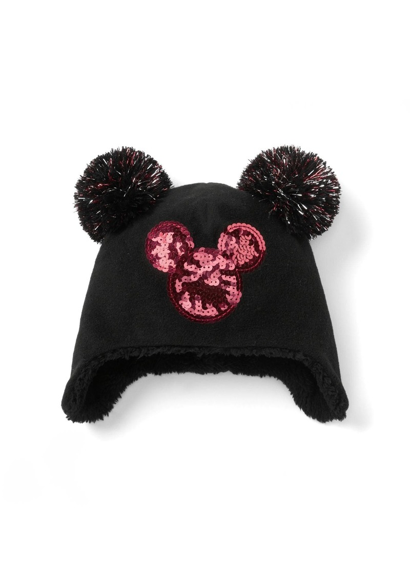 Gap GapKids   124 Disney Mickey Mouse sequin pom-pom hat  690b8e9e4da