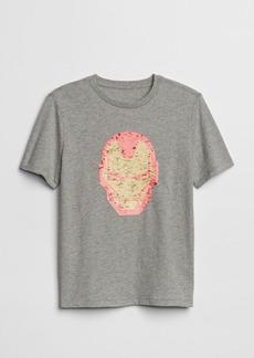 GapKids&#124 Marvel Flippy Sequin Short Sleeve T-Shirt
