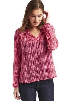 Geo print smock blouse