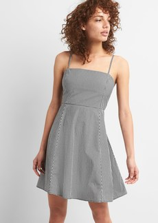 Gap Gingham Square Neck Fit and Flare Dress