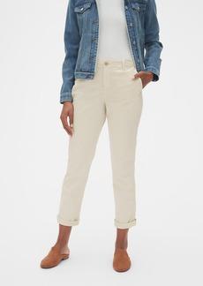 Gap Girlfriend Twill Stripe Khakis