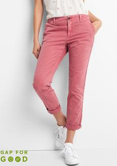 Gap Girlfriend twill stripe chinos