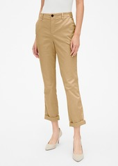 Gap Girlfriend Twill Stripe Khakis