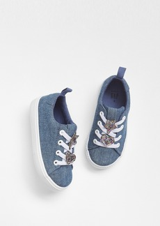 Gap Glitter Applique Chambray Sneakers