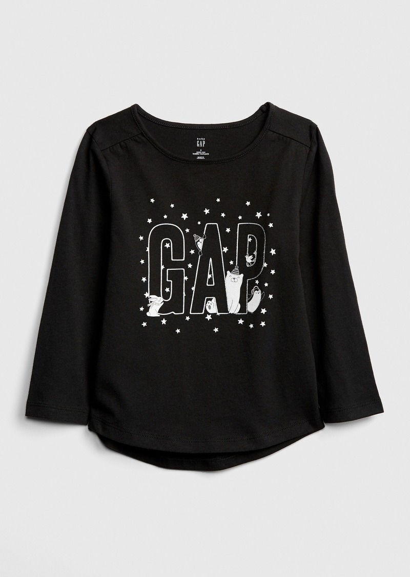 Gap Toddler Glitter Embroidery Graphic T-Shirt