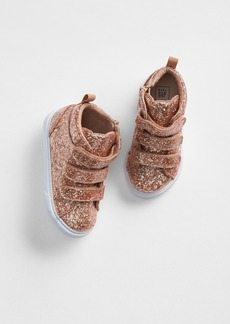 Gap Glitter Strappy Hi-Top Sneakers
