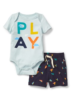 Gap Graphic Bodysuit and Short Set