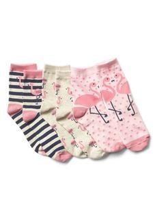 Gap Graphic Crew Socks (3-Pairs)