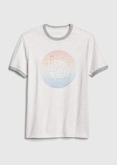 Gap Graphic Ringer Crewneck T-Shirt