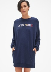 Gap Graphic Sweatshirt Dress