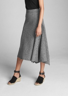 Gap Handkerchief Ribbed Midi Skirt