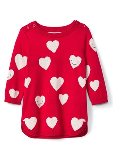 Gap Happy hearts sweater dress