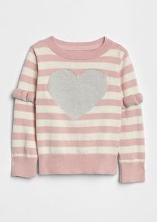Gap Heart Ruffle Stripe Sweater