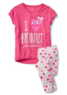 Gap Heart short sleeve sleep set