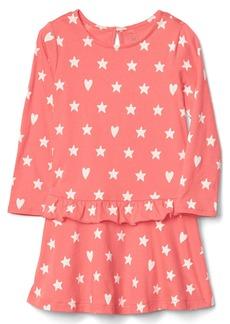 Gap Heart stars ruffle dress