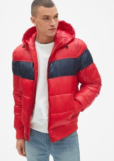 Gap Heavyweight Colorblock Hooded Puffer Jacket