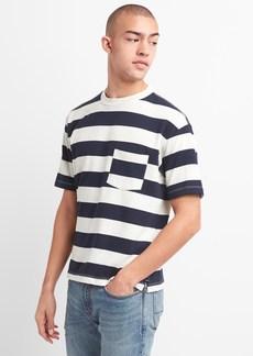 Gap Heavyweight Stripe Pocket T-Shirt